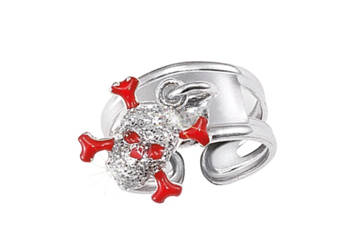 SCOUT Ring silber, rot