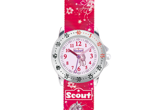 SCOUT Armbanduhr rot